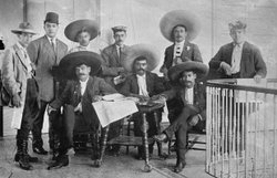 Revolutionary leader Emiliano Zapata (center, seated) and his staff.