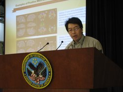 Mingxiong Huang, Ph.D, UCSD,  describes his MEG brain scan technique at a VA Medical Center conference in San Diego, May 2nd 2011.
