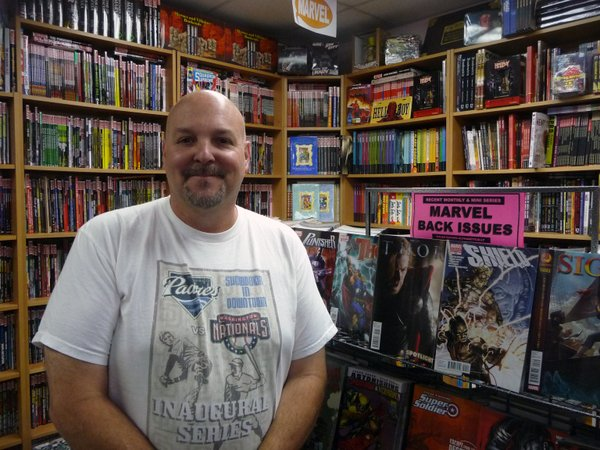 Robert Scott, owner of Comickaze: Comics, Books, and More.