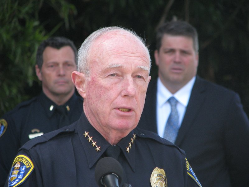 San Diego Police Chief William Lansdowne addresses the media on May 10, 2011....