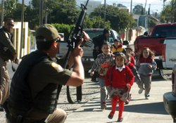 Innocent children are at risk of being affected by the drug violence in Mexic...