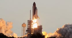 The space shuttle Endeavour lifts off from Launch Pad 39A at the Kennedy Space Center on May 16, 2011 in Cape Canaveral, Florida