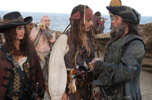"""Penelope Cruz, Johnny Depp and Ian McShane star in the latest pirate adventure Pirates of the Caribbean: On Stranger Tides."""""""