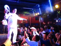 Narco corrido singer El Tigrillo Palma (Lil Tiger) performs at Bandolero's in...