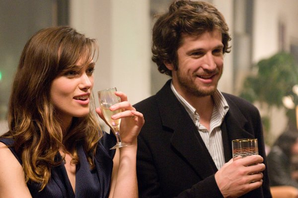 "Keira Knightley unexpectedly meets an old flame played by Guillaume Canet in ""Last Night."""