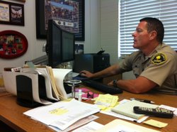 Captain Dave Myers from the San Diego County Sheriff's Department manages Ope...