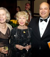 KPBS Producers Club members, Patti and Mark Nussbaum with Audrey Geisel.