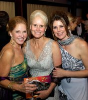 Producers Club Members Julie Hatch and Kathy Bettles with KPBS Development Director, Trina Hester.