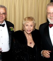 Gala Host and NPR White House Correspondent Scott Horsley with KPBS' Gloria Penner and SDSU President Stephen Weber
