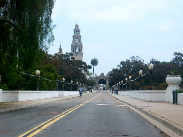 The Laurel Street bridge is the western entrance to San Diego's Balboa Park.