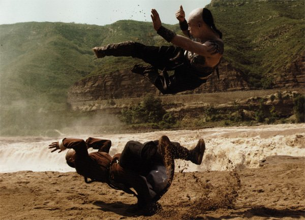 "The highflying martial arts action of Yuen Woo Ping's ""True Legend."""