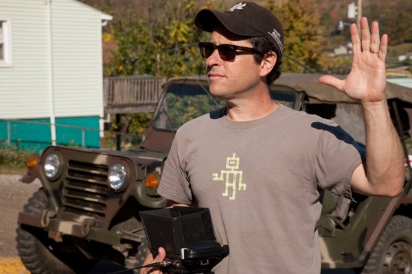 "J.J. Abrams on the set of ""Super 8."""
