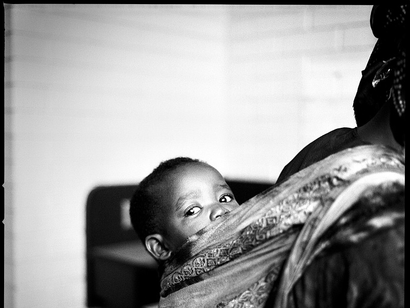 This photograph comes from a series of images of Somali Bantu refugees soon a...