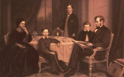 President Abraham Lincoln and family.