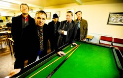 Squeeze are (left to right) Stephen Large, Glenn Tilbrook, Chris Difford, Joh...