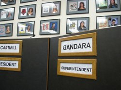 Above: Jesus Gandara will leave the district after nearly five years as super...