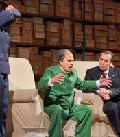 "Robert Brubaker as Mao Tse-tung and James Maddalena as Richard Nixon in Adams's ""Nixon In China."""