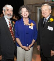 Hall of Fame-Lifetime Achievement Awardees Paul Marshall, Betty McManus (on behalf of Tom McManus) and Paul Steen at Hall of Fame ceremony, September 2010.