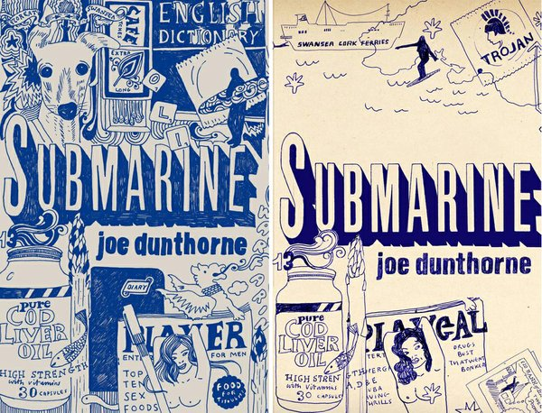 "The engaging covers of Joe Dunthorne's book ""Submarine."""