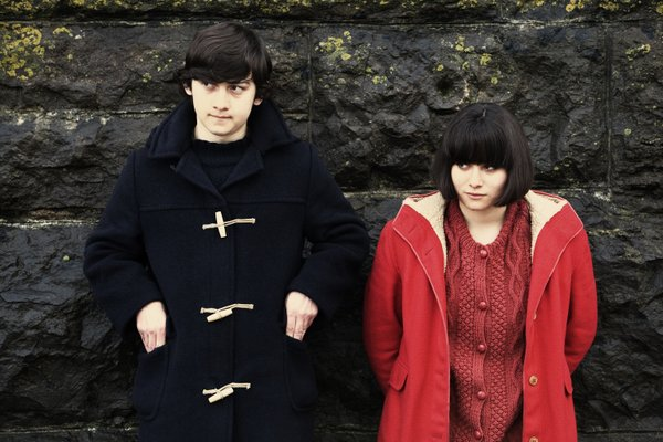 "Craig Roberts and Yasmin Paige star as teenagers in ""Submarine."""
