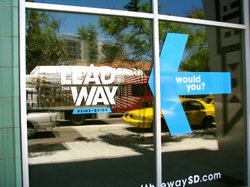 The Lead the Way study has a storefront on Park & University, where anyone in...