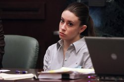 Casey Anthony listens to testimony during her murder trial at the Orange County Courthouse on June 30, 2011 in Orlando, Florida. Anthony's defense attorneys argued that she didn't kill her two-year-old daughter Caylee, but that she accidentally drowned. (Photo by Red Huber-Pool/Getty Images)