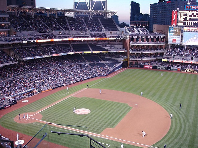 Petco Park was built as part of a redevelopment effort in downtown San Diego.