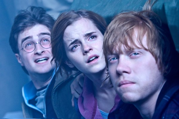 "Daniel Radcliffe, Emma Watson, and Rupert Grint now in ""Harry Potter and the Deathly Hallows, Part 2."""