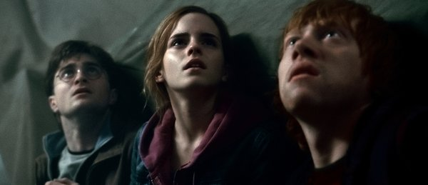 "(L-r) Daniel Radcliffe as Harry Potter, Emma Watson as Hermione Granger and Rupert Grint as Ron Weasley in Warner Bros. Pictures' fantasy adventure ""Harry Potter and the Deathly Hallows, Part 2"" a Warner Bros. Pictures release."