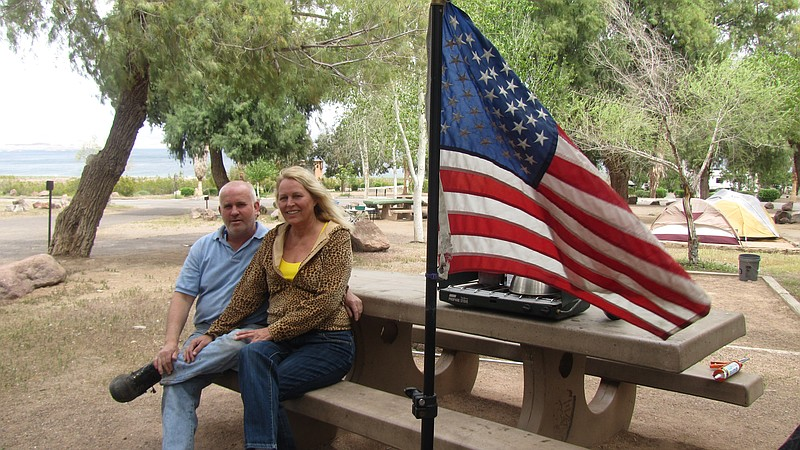 Aulikka Fried and William Banister of Las Vegas planned to spend the month ca...