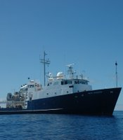 The Scripps Research Vessel travelled about 1,200 miles into the Pacific Ocean.