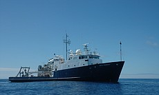 The Scripps Research Vessel travelled about 1,2...