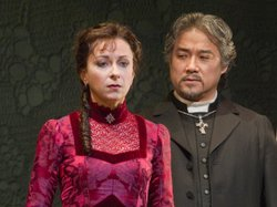 Natalie Dessay as Lucia and Kwangchul Youn as Raimondo as featured in