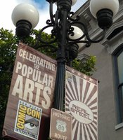 2011 Comic-Con Banner in the heart of the Gaslamp Quarter