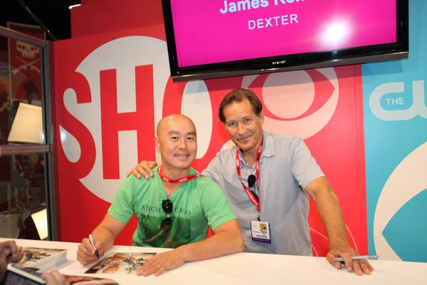 "Fans of Showtime's ""Dexter"" were excited to see C.S. Lee (Vince Masuka) and James Remar (Harry Morgan, Dexter's father) signing autographs in the exhibit hall."