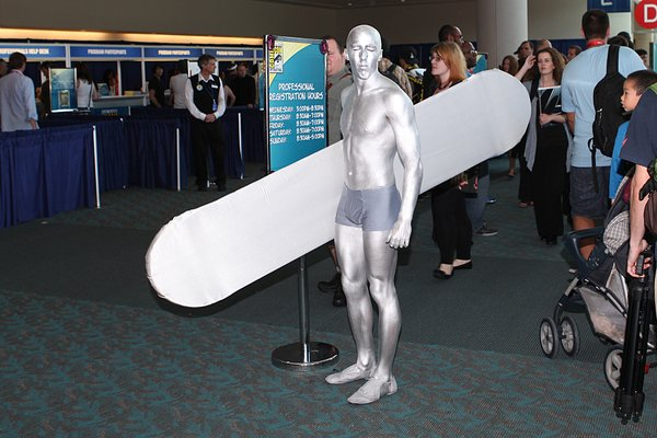 The Silver Surfer at opening day of Comic-Con.