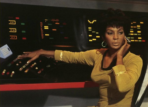 "Nichelle Nichols was an early, strong female character in TV's ""Star Trek."""
