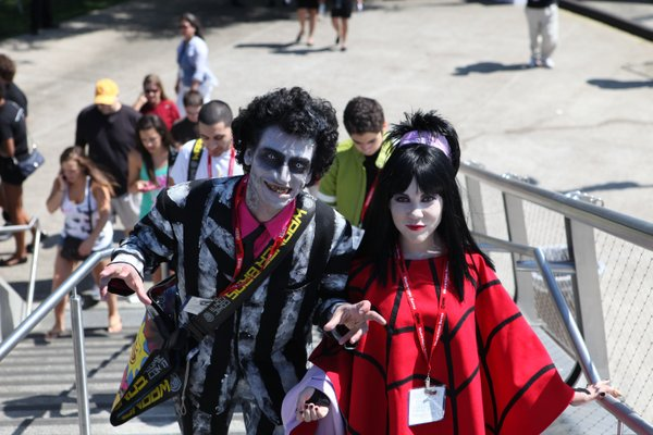 Gotta love Beetlejuice at Comic-Con...
