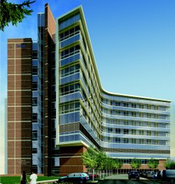 A rendering of the new Scripps' cardiovascular institute.
