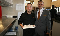 Cinepolis General Manager Antonio Garcia (R) and his chef