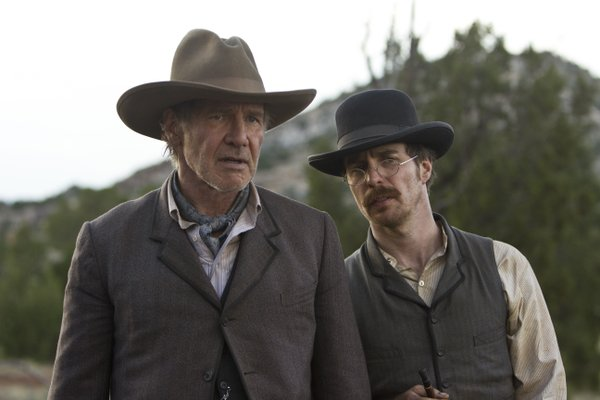 "Harrison Ford and Sam Rockwell in ""Cowboys and Aliens."""