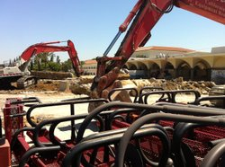 The rubble from the demolished Aztec Center at SDSU will make way soon for a new $100 million facility.