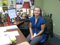 Jennifer Roberts, Program Manager for Women Veterans at the VA Medical Center in La Jolla, August 2011