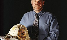 Mike Telesca, retired Battalion Chief with FDNY'S Safety Battalion, eventually recovered his beloved helmet which he lost when the World Trade Center's south tower collapsed.