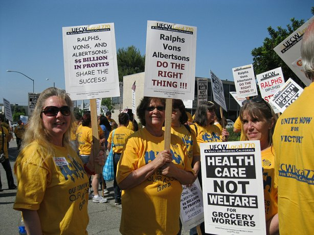 Members of the United Food and Commercial Workers International Union Local 770.