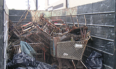 Shopping carts collected in creek beds and from the bottom of San Diego by Operation Clean Sweep volunteers in 2010.