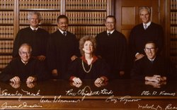 Cruz Reynoso with the California Supreme Court Justices.