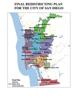 The final map the San Diego Redistricting Commission approved.