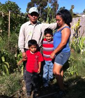 This family from Guatemala is part of the International Rescue Committee's New Roots Community Farm program.