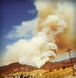 A fire near Pala has burned 200 acres. Firefighters are battling the blaze.